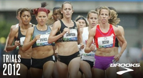 Morgan Uceny and Jenny Simpson in the Women's 1500 meter race - Source www.flotrack.org.
